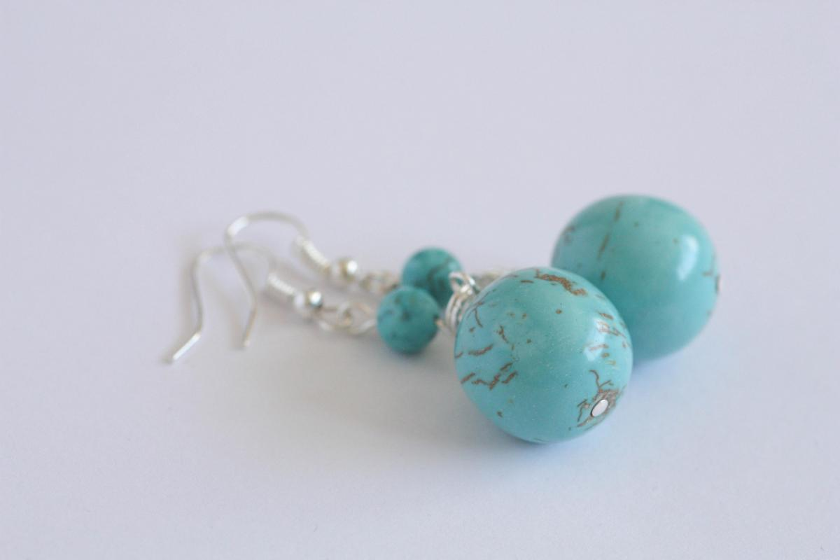 turquoise drop earrings december birthstone necklace on
